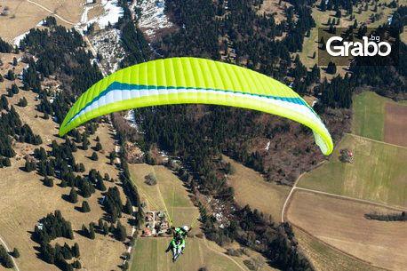 Панорамен тандемен полет с парапланер от Шуменското плато или над морето, плюс HD заснемане, от Летателен клуб Дедал