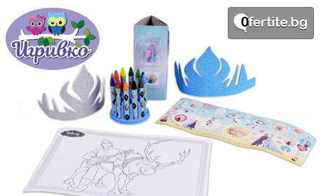 Детски комплект Totum Frozen - направи си сам амулет, корона и картина