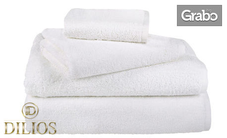 Бели хавлиени кърпи от 100% памук - размер по избор