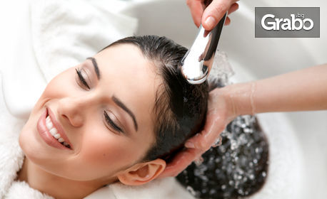 Масажно измиване, плюс подстригване и оформяне със сешоар