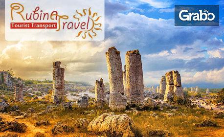 Еднодневна екскурзия до Побитите камъни, Чудните скали и Музея на мозайките и Вълшебния извор в Девня