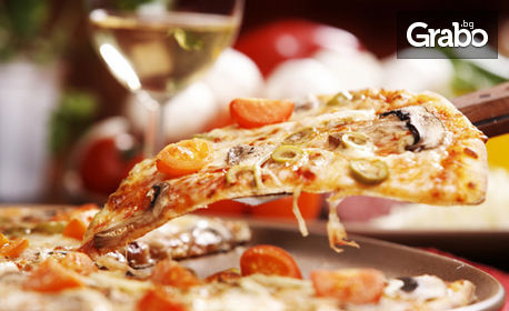 Семейна пица Куатро Карне (60см) за вкъщи, с включена кутия