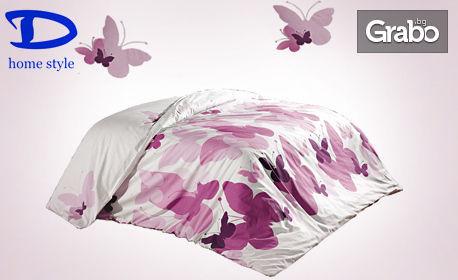 За пролетните нощи! Олекотена завивка с десен Пеперуди в размер по избор