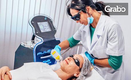 1 процедура лазерна епилация с висок клас диоаден лазер Pulsar на зона по избор - за жени и мъже