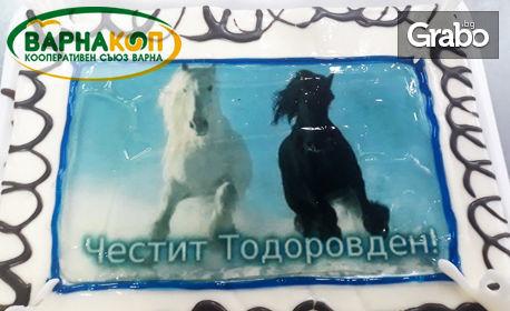 Сладък подарък за Тодоровден или 8 Март! Торта по избор с до 12 парчета, с безплатна доставка
