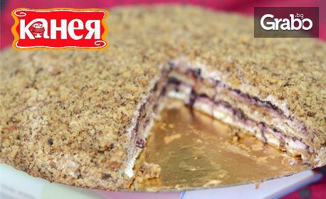 Френска селска торта - класическа, с боровинки или вишни