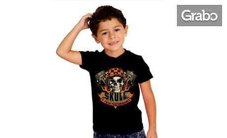 Рокерска детска, дамска или мъжка тениска или потник с щампа - в цвят размер по избор