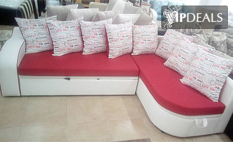 """Ъглов диван """"Нина"""" в цветова комбинация по избор"""