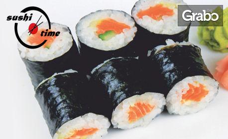 6 хапки апетитно суши по избор