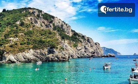 Почивка на Корфу! 7 нощувки със закуски и вечери в хотел Olimpion Village 3+*, плюс транспорт