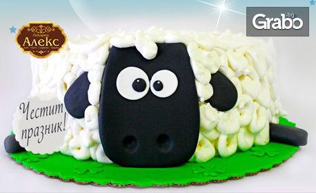 Забавна торта за Гергьовден с 8 парчета