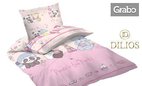 Спален бебешки комплект от Ранфорс - в десен по избор