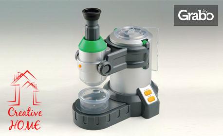 Образователна играчка детски микроскоп Edu Science MS031 с инкубационна камера