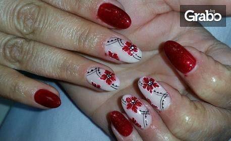 SPA терапия за ръце или маникюр с гел лак и 2 декорации
