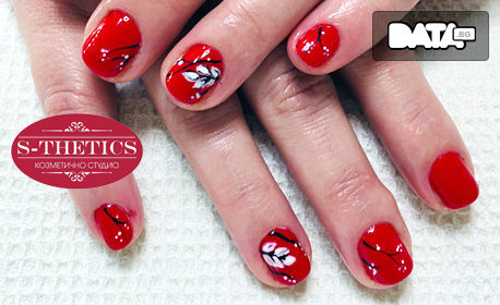 Маникюр с гел лак Enii nails и 2 декорации