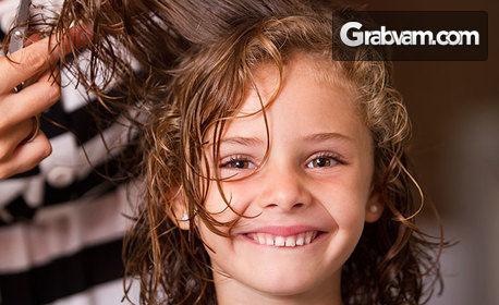 Детско или мъжко подстригване, прическа с плитки или боядисване на коса с боя на клиента
