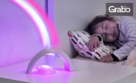 Детски LED проектор Дъга на испанската марка InnovaGoods