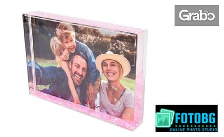 Подарък за всеки повод! Акрилен фотоблок с Ваша снимка и пълнеж по избор