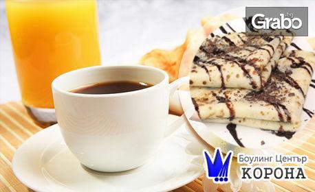 Кафе Lavazza, плюс фреш портокал и палачинка с шоколад